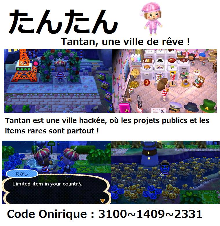 Code Onirique Belle Ville Acnl