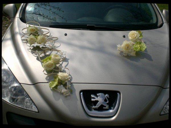 Bouquet de mari e d coration de voiture blog d 39 art floral - Decoration voiture de mariee ...