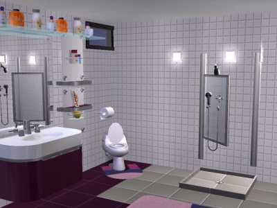 Salle de bain mauve blog de fellasimsette for Salle de bain mauve