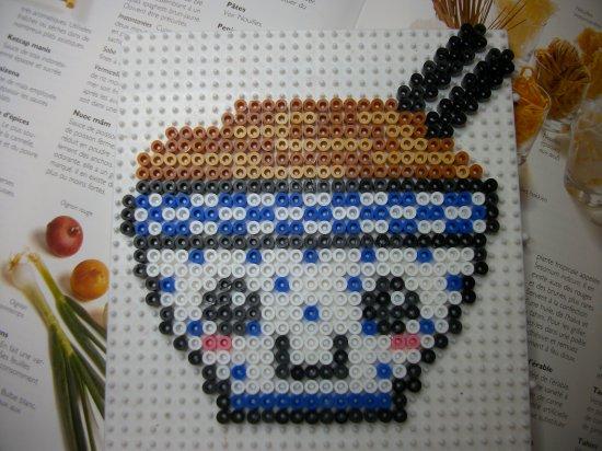 Magnette frigo en perle hama :bol de nouilles