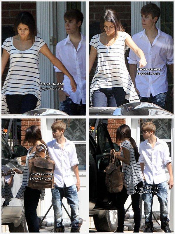 Justin Bieber et Selena Gomez quittent la maison de Justin, Stanford