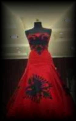 robe de marié rouge et noir - united stat of albania (USA)