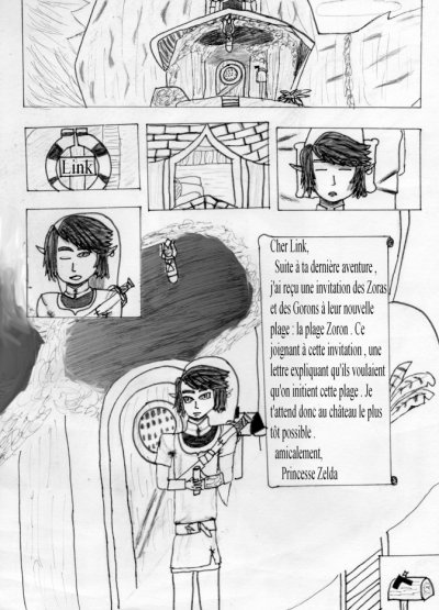 "Galerie de dessins, de BD et de montages sur le th�me ""The Legend of Zelda en vacances"" !"