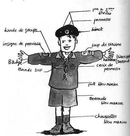 L 39 uniforme d taill chez les suf blog des scouts - Argument contre le port de l uniforme ...