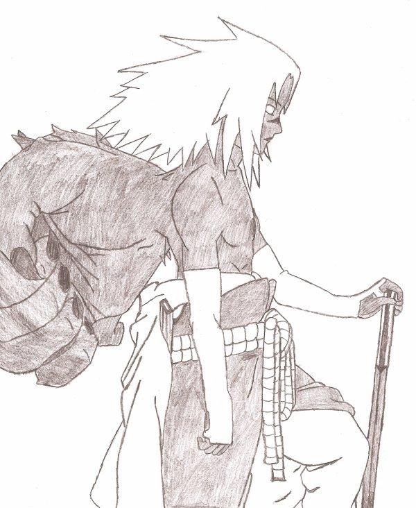 Encore un de mes dessin sasuke demon shippuden actu - Dessin naruto et sasuke ...