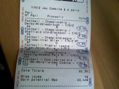 Ticket gagnant blog de prono cotematch94 - Grille des matchs parions sport ...