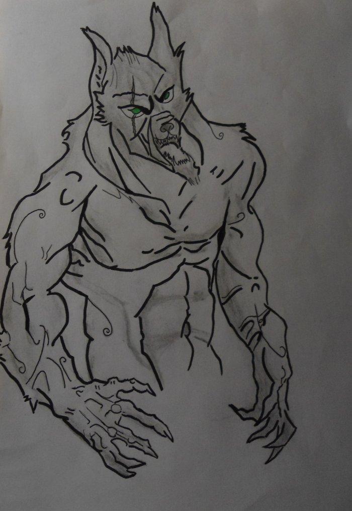 Loup garou dessin dessin et dessin - Dessin loup garou ...