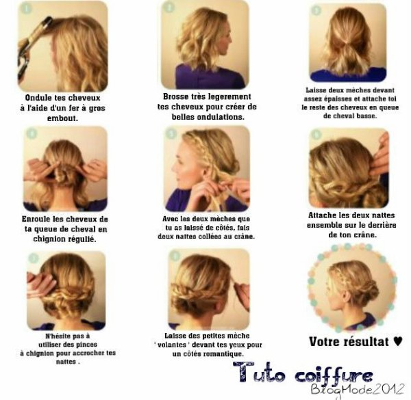 Tuto coiffure cheveux court blog mode - Tuto coiffure cheveux court ...