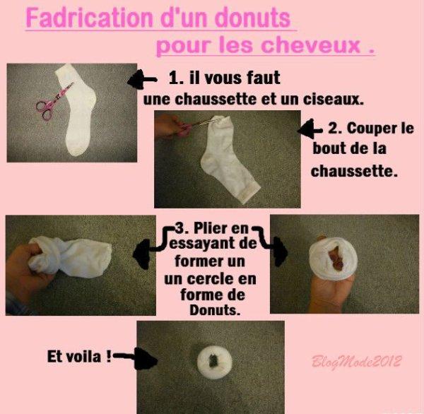 comment fabriquer un donuts a cheveux blog mode. Black Bedroom Furniture Sets. Home Design Ideas