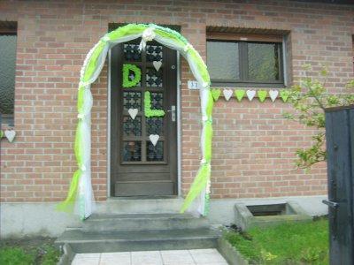 Mariage dominique et j r me le 07 11 09 jonchure fausse for Decoration porte entree pour mariage