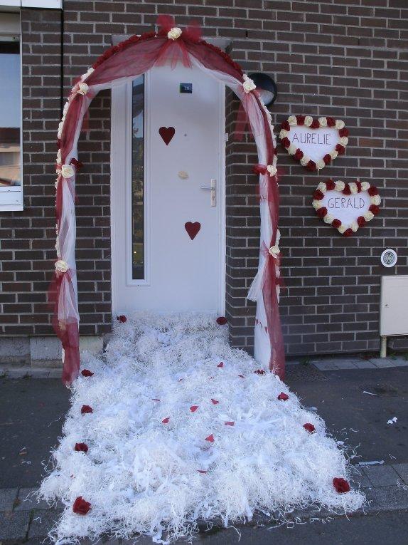 Mariage aur lie et g rald le 15 10 2011 jonchure for Decoration porte entree pour mariage