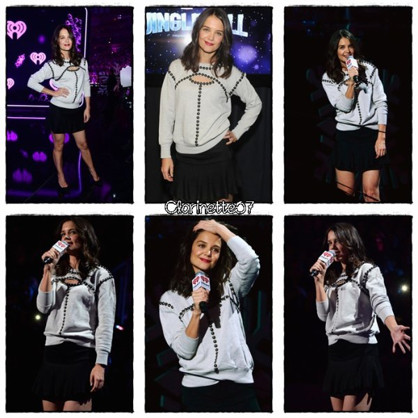 Katie �tait au Madison Square Garden pour le  Z100's Jingle Ball 2013- le 13 D�cembre - � New Yok