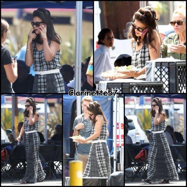 Katie sur son tournage - le 15 Juillet -