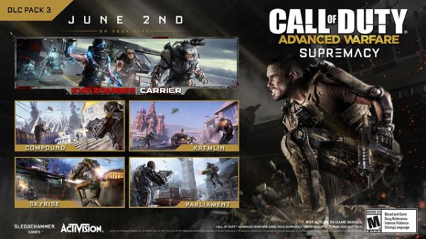 supremacy dlc advanced warfare 2juillet pour ps3-ps4