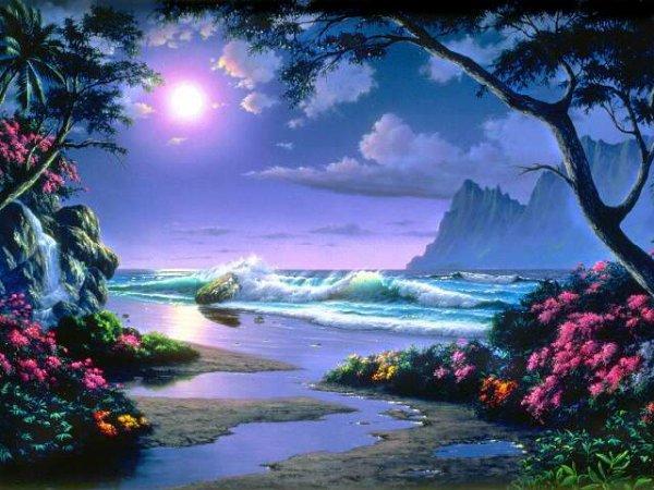 ماهو وجه الشبه بين القمر والبحر والدموع