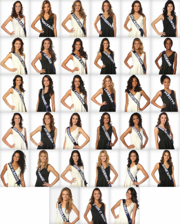 Candidates � Miss France 2014 - Photos Officielles