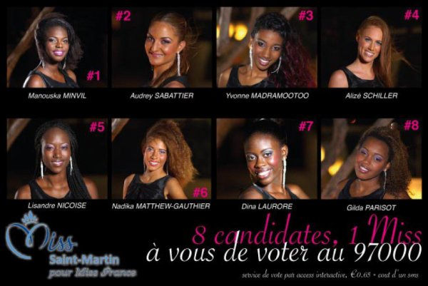 Candidates Miss Saint Martin 2014 et Miss Guadeloupe 2014