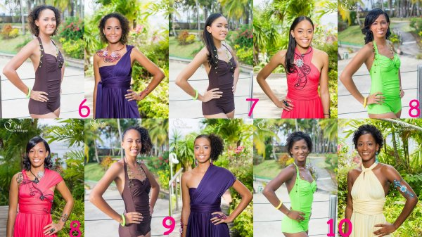 Candidates Miss Martinique 2014
