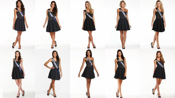 Photos officielles des candidates � Miss France 2015