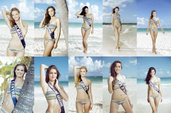 Photos officielles en maillot de bain des candidates � Miss France 2015
