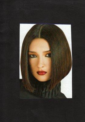 Amelie coupe carre plongeant travail en couleur les dayaks salon de coiffure mixte nice - Carre plongeant couleur ...