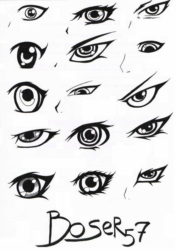 Boser57 dessin manga 08 les yeux blog de boser57 - Dessin yeux facile ...