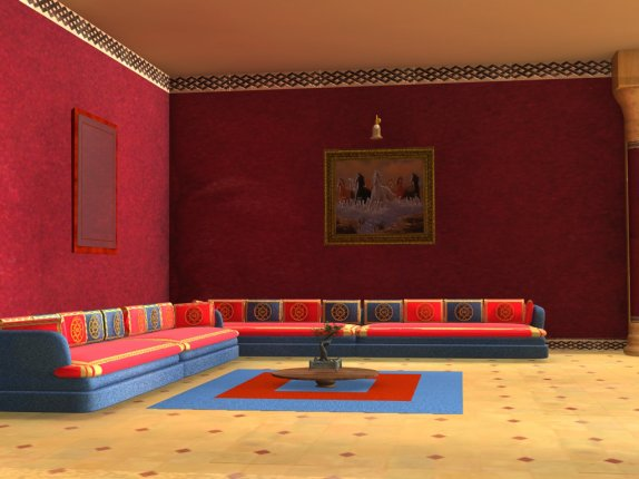 Salon marocain art confort for Peinture salon maroc violet