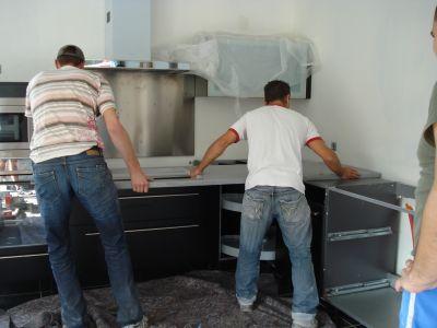 La cuisine pose du plan de travail construction de notre - Poser un plan de travail de cuisine ...