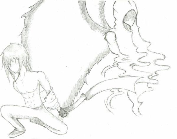 Mi ange mi d mon ancien dessin mon monde en manga - Dessin ange demon ...