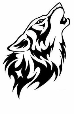 Loup qui hurle a la lune darkarthe - Tete de loup dessin ...