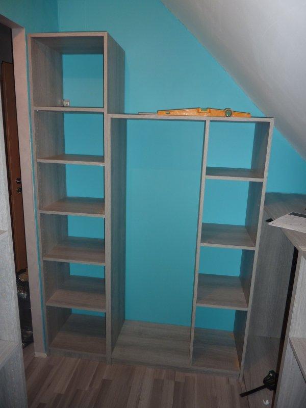 fabrication d un dressing maison avec l aide de laurent dario67600. Black Bedroom Furniture Sets. Home Design Ideas