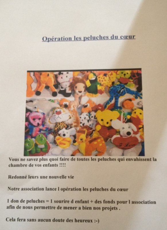 Op�ration peluches du c�ur
