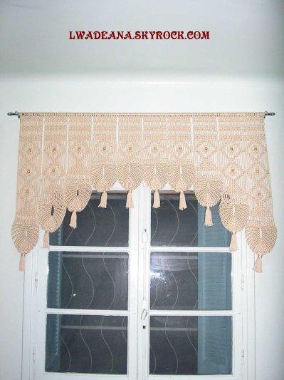 cache rideau au macrame en arc 01 blog de lwadeana. Black Bedroom Furniture Sets. Home Design Ideas