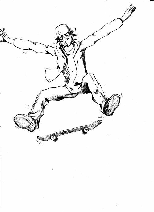 Comment dessiner un skate - Dessin skateboard ...