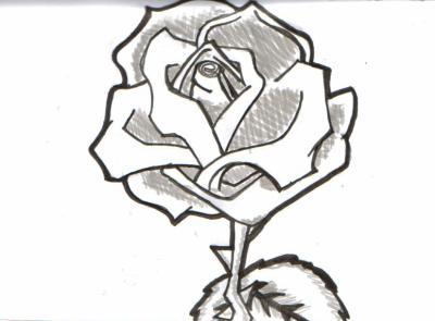 rose noir blanc du dessin de la 3d enfin tout sauf des photos. Black Bedroom Furniture Sets. Home Design Ideas