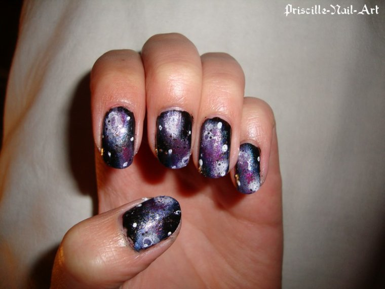 nail art galaxy ongles courts blog de priscille nail art. Black Bedroom Furniture Sets. Home Design Ideas