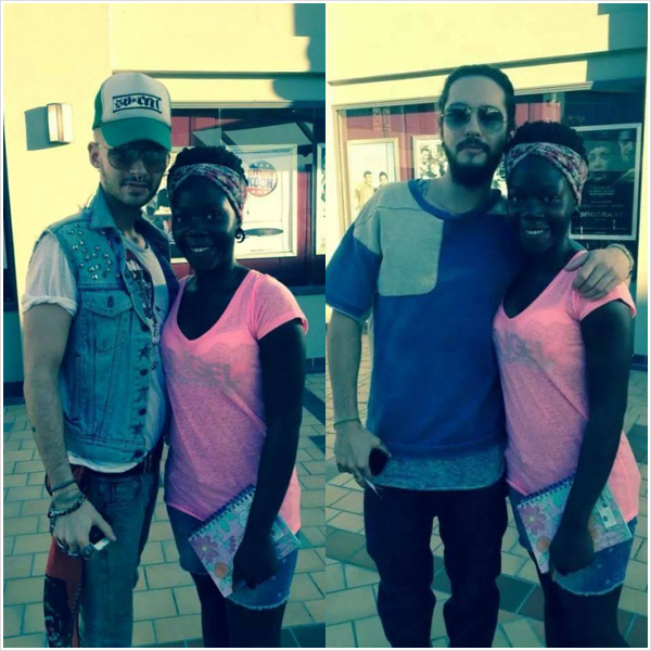 8 506 / 03.07.2014 - Bill & Tom avec une fan � West Hollywood (USA).