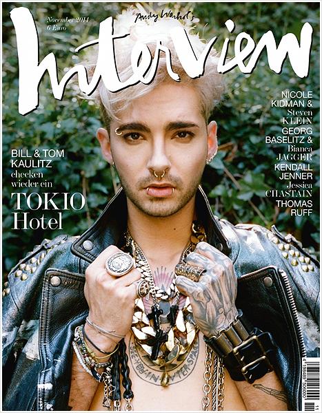 """8 747 / Bill en couverture du magazine """"Interview"""" (11/2014)."""