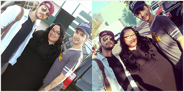 8 748 / 18.10.2014 - Bill & Tom avec une fan � Los Angeles (USA).