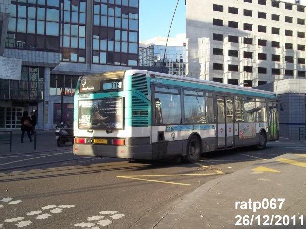 Habillage ligne 116 bus renault agora s v2 n 2796 de la - Ligne 118 bus ...