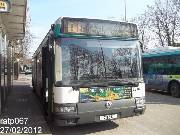 Habillage ligne 118 bus renault agora s v2 n 2836 de gmr - Ligne 118 bus ...