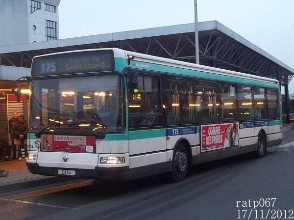 Ligne 175 bus renault agora s n 2134 blog de ratp067 - Ligne 118 bus ...