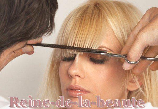 La coiffure avec frange reine de la beaute for Comcoiffures avec frange