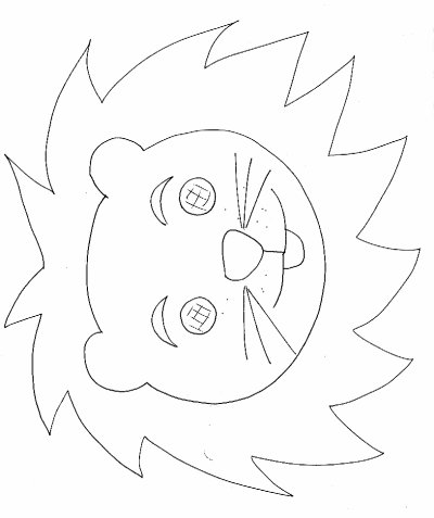 Tete de lion aux feuilles d automne activites manuelles - Tete de lion dessin facile ...
