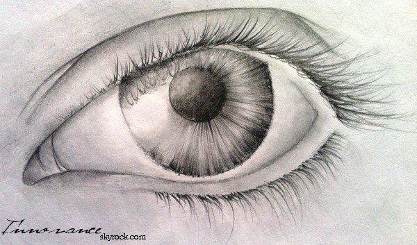 comment dessiner des yeux qui pleure