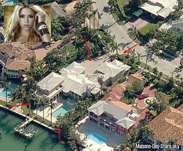 Shakira blog de maisons des stars for Visite maison de star