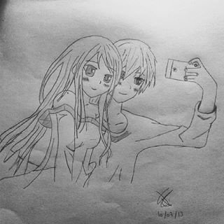 Couple manga shoot photo - Dessin amoureux couple ...