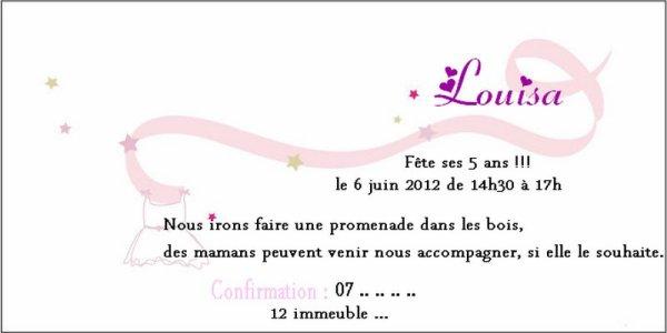 Invitation anniversaire petite fille blog de - Invitation anniversaire fille 12 ans ...