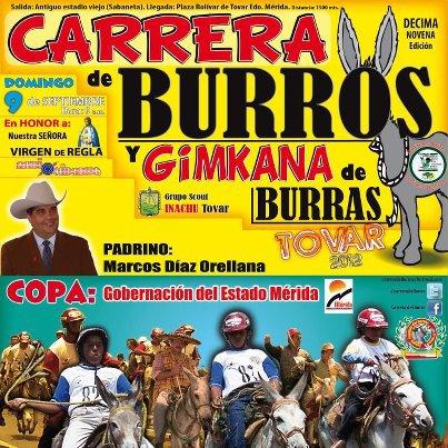CARRERA DE BURROS Y BURRAS 2012 DOMINGO 9 DE SEPTIEMBRE
