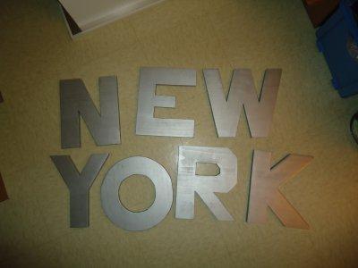 LETTRES NEW YORK